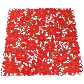 Mitteldecke Weihnachtssterne rot 85x85 cm