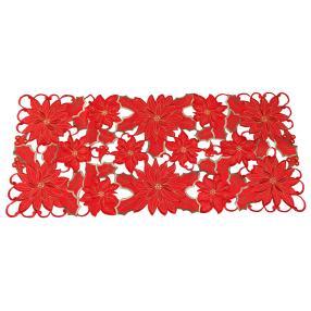 Tischläufer Weihnachtssterne rot