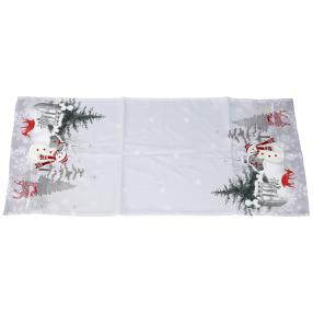 Tischläufer Weihnachtsmotiv, weiß