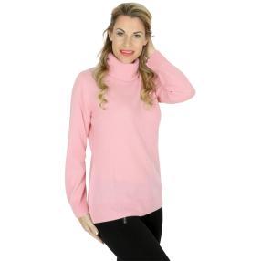 100% KASCHMIR Rollkragenpullover helles Pink