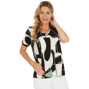 Damen-Shirt schwarz/weiß