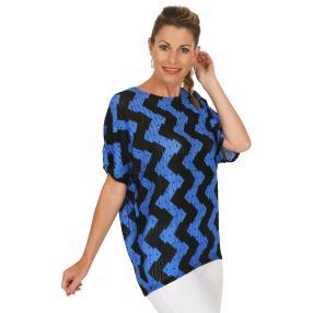 Damen-Shirt schwarz/blau