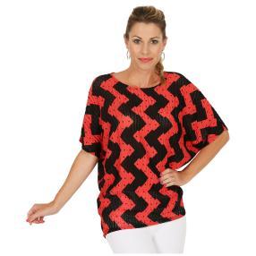 Damen-Shirt schwarz/rot