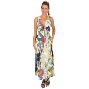 Damen-Sommer-Maxikleid multicolor
