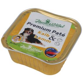 9x Humers Vital Hundefutter 300g Patè Kalb & Lamm