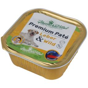 9x Humers Vital Hundefutter 300g Patè Leber & Wild