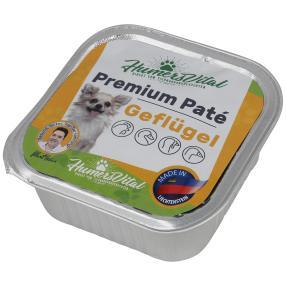 11x Humers Vital Hundefutter 150g Patè Geflügel