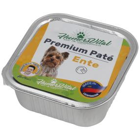 11x Humers Vital Hundefutter 150g Patè Ente