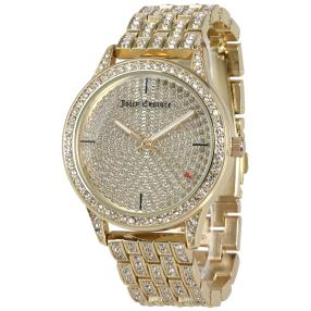 Juicy Couture Damenuhr gold Strass Steinen