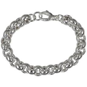 Erbsarmband 925 Sterling Silber, ca. 19 cm