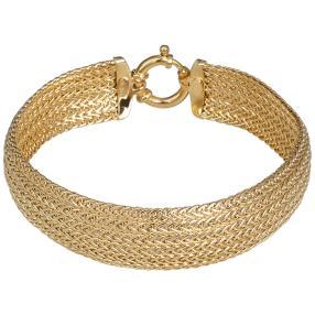 Armband 585 Gelbgold mehrreihig, ca. 19cm