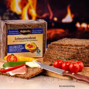 Schlünder Leinsamen Brot in Folie verpackt 2x 500g