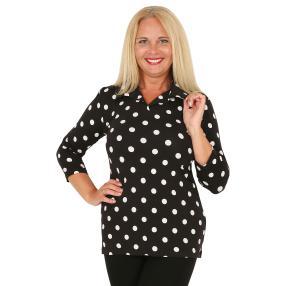 RÖSSLER SELECTION Damen-Poloshirt schwarz/weiß