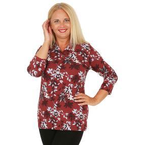 RÖSSLER SELECTION Damen-Poloshirt braun/multicolor