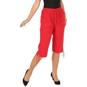 Leichte Damen-Caprihose mit Gummizug, rot