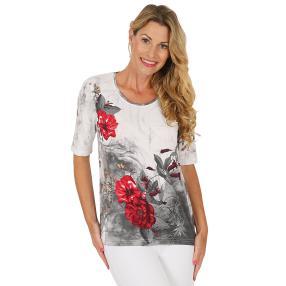 MILANO Design Shirt weiß/schwarz/rot