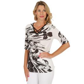 MILANO Design Shirt schwarz/weiß/taupe