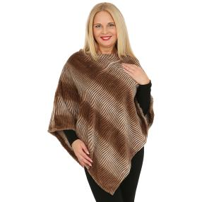 FASHION NEWS Webpelz-Poncho taupe