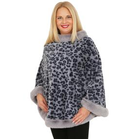 FASHION NEWS Webpelz-Cape blau