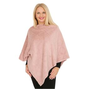FASHION NEWS Webpelz-Poncho rosé