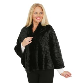 FASHION NEWS Webpelz-Cape black