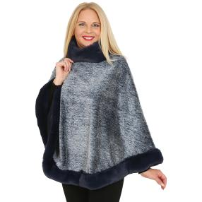 FASHION NEWS Webpelz-Cape jeansblau