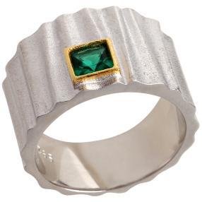 Ring 925 Sterling Silber Zirkonia grün