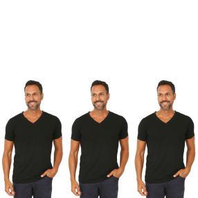 3er Pack Männer T-Shirt  schwarz