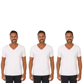 3er Pack Männer T-Shirt  weiß