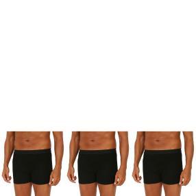 3er Pack Männer Boxer Slip (Rippe)  schwarz