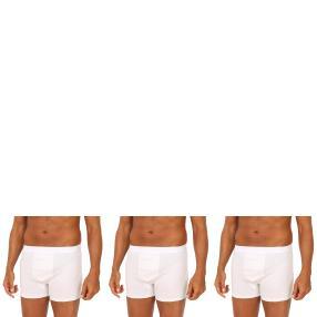 3er Pack Männer Boxer Slip (Rippe)  weiß