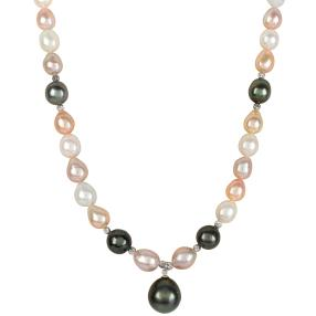 Collier Edison+Tahiti Perlen