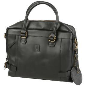 T2B Rindleder Herrentasche, schwarz