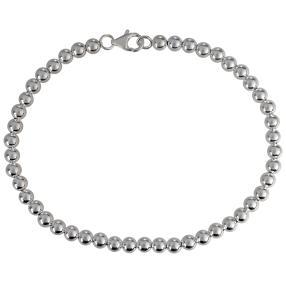 Kugelarmband 925 Sterling Silber, ca. 19cm