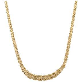 Königskette 585 Gelbgold, im Verlauf, ca. 45 cm