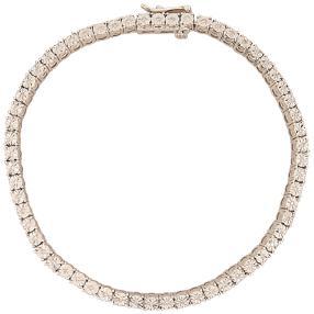 Armband 925 Sterling Silber rhodiniert Diamanten