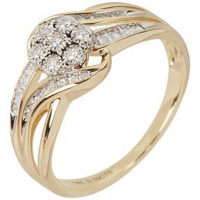 Ring 585 Gelbgold Diamanten