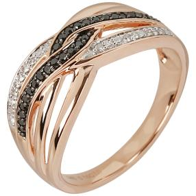Ring 585 Roségold Diamanten