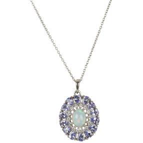Anhänger 925 Sterling Silber Äthiopischer Opal