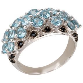 Ring 925 Sterling Silber blau Zirkon