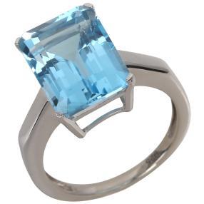 Ring 925 Sterling Silber Blautopas behandelt