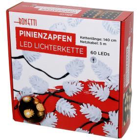 Pinienzapfen Lichterkette mit 60 LEDs