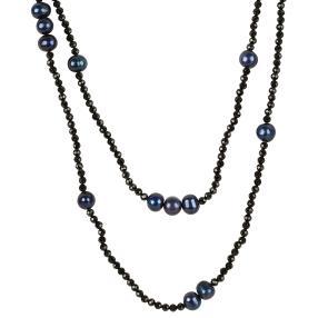 Collier Spinell mit Perlen