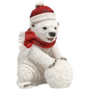 Dekofigur Eisbär Schneeball