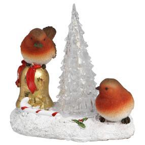 Dekofigur LED-Vogelpaar