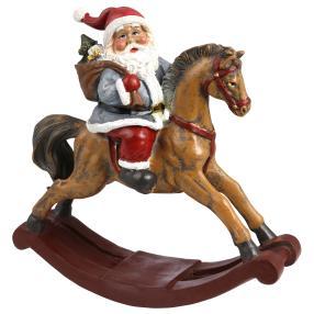 Weihnachtsmann auf dem Pferd