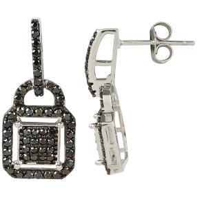 Ohrhänger 925 Sterling Silber Spinell