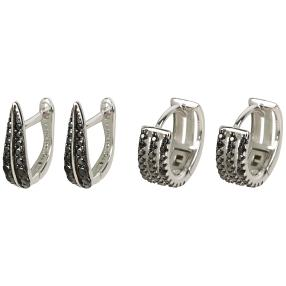 Creolen Set 925 Sterling Silber Spinell