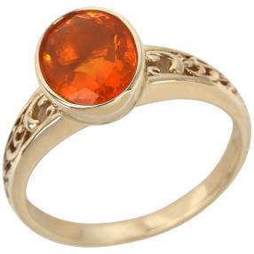 Ring 375 Gelbgold Feueropal