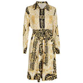 VI VA DIVA  Kleid schwarz/weiß/gold